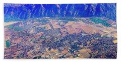 Aerial Usa. Los Angeles, California Bath Towel