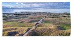 aerial view of Nebraska Sandhills  Hand Towel