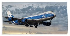 Air Bridge Cargo Airlines Boeing 747-8hv Bath Towel
