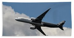 Airbus A350 Bath Towel by Shirley Mitchell
