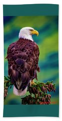 Alaska Bald Eagle Bath Towel