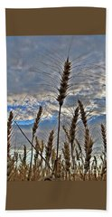 Hand Towel featuring the photograph All About Wheat by Sara Raber
