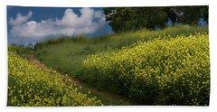 Almaden Meadows' Mustard Blossoms Bath Towel