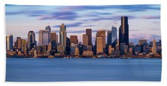 Almost Sunset In Seattle  Hand Towel by Ken Stanback