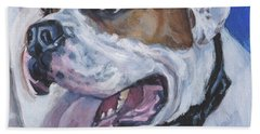 American Bulldog Bath Towel