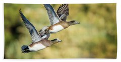 Hand Towel featuring the photograph American Widgeon by Tam Ryan