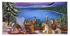 Among The Spirits Hand Towel by Glenn Holbrook