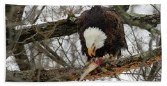 An Eagles Meal Bath Towel by Brook Burling