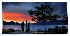 Hand Towel featuring the photograph A Sunset Story by John Poon