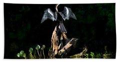 Anhinga Anhinga Anhinga, Pantanal Hand Towel