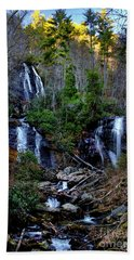 Hand Towel featuring the photograph Anna Ruby Falls by Barbara Bowen