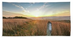 Appalachian Trail Sunrise Bath Towel