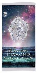 April Birthstone Diamond Hand Towel