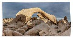 Arch Rock Panorama In Joshua Tree Bath Towel