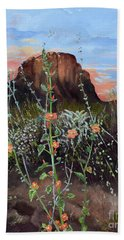 Arizona Desert Flowers-dwarf Indian Mallow Bath Towel