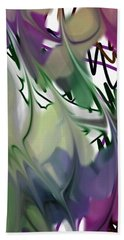 Hand Towel featuring the digital art Art Abstract by Sheila Mcdonald