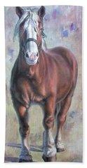 Arthur The Belgian Horse Bath Towel