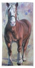 Arthur The Belgian Horse Hand Towel