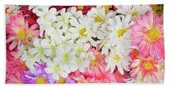 Artificial Flowers Bath Towel