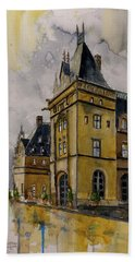 Asheville Castle In The Mountains Hand Towel