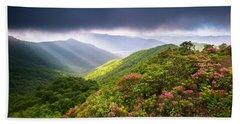 Asheville Nc Blue Ridge Parkway Spring Flowers North Carolina Bath Towel