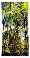 Aspen Forest Abstract Bath Towel by Jennifer Lake