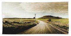 Australian Rural Road Hand Towel
