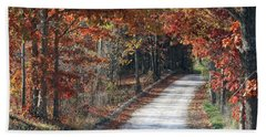 Autumn Drive Hand Towel