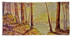 Hand Towel featuring the painting Autumn Glow by Carolyn Rosenberger