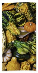 Autumn Gourds Bath Towel