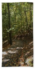 Bath Towel featuring the photograph Autumn Stroll  by Margie Avellino
