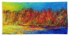 Bath Towel featuring the painting Autumn by Teresa Wegrzyn