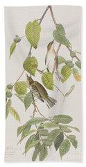 Autumnal Warbler Hand Towel by John James Audubon