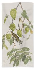 Autumnal Warbler Hand Towel