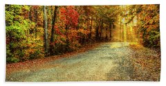 Autumns Path Hand Towel by Darren Fisher