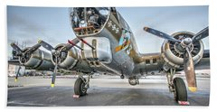B17 Flying Fortress On The Ramp At Livermore Hand Towel