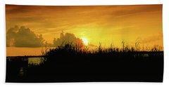 Backbay Sunset Bath Towel by Scott Cameron