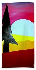 Big Bad Moon Rising Bath Towel by J R Seymour