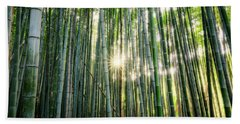 Bamboo Forest At Arashiyama Hand Towel