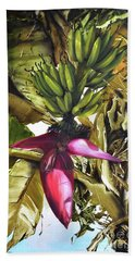 Hand Towel featuring the painting Banana Tree by Chonkhet Phanwichien