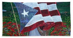 Bandera De Puerto Rico Hand Towel