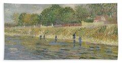 Bank Of The Seine Paris, May - July 1887 Vincent Van Gogh 1853 - 1890 Hand Towel