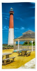 Hand Towel featuring the photograph Barnegat Lighthouse Park by Nick Zelinsky