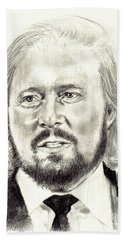Barry Gibb Portrait Bath Towel