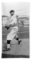 Baseball Star Walter Johnson Hand Towel by Underwood Archives