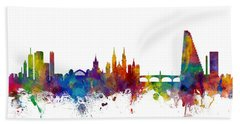 Basel Switzerland Skyline Bath Towel