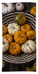Basket Full Of Small Pumpkins Bath Towel