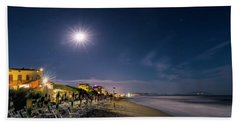 Beach At Night - Spiaggia Di Notte Hand Towel
