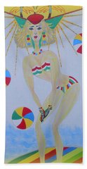Beach Ball Surfer Bath Towel by Marie Schwarzer