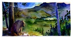 Bearly Light At Castle Peak Hand Towel